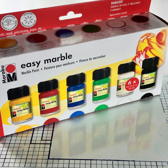 Easy Marble Starter Set helps you create marble effect fast and easy just dip, drip and your done, sutiable for adults and kids 9 and up