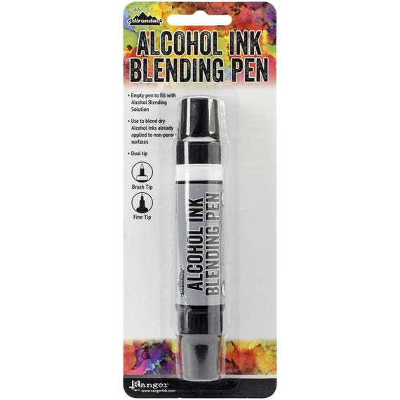 Alcohol ink blending pen Water brush - detailer tip by Tim Holtz allows you to shade and highlight any water-based ink, dye, or paint.