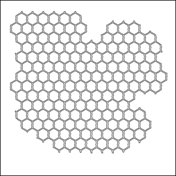 """Chickenwire 6 x 6"""" Stencil /  template a Jaime Echt design perfect for mixed media, scrapbooking, journaling and so much more"""