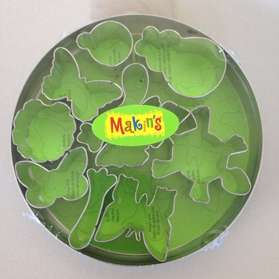 11 piece set of MAKIN'S-Bugs set, butterflies & turtles shape cutters, perfect for polymer clay, fondant or other creative crafting
