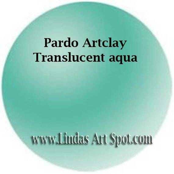 Pardo Translucent -AQUA Professional Art Clay by Viva Decor, make beautiful faux beach glass and more