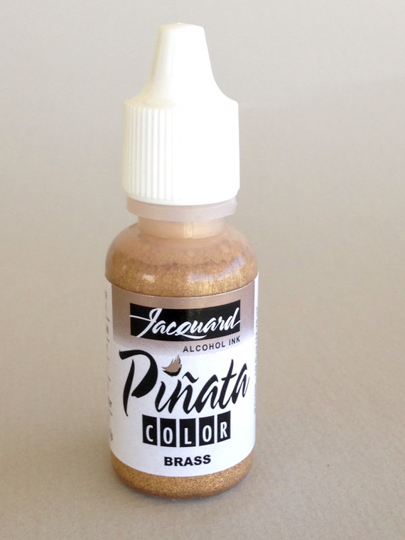 Brass Jacquard Pinata Alcohol Ink alcohol based high vibrancy transparent colors. Perfect for polymer clay & more