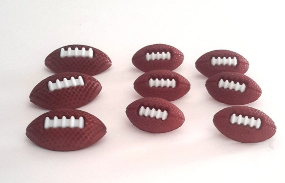 9 Football buttons or scrapbooking, sewing and game day