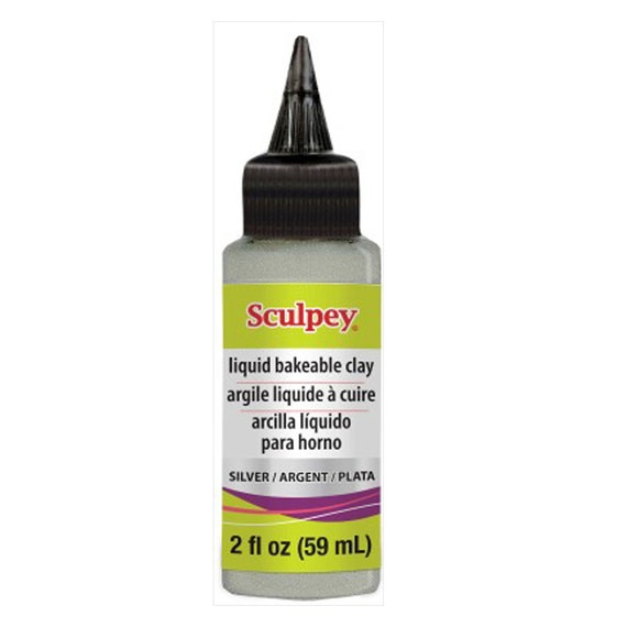 sculpey Silver , liquid bakeable clay 2oz