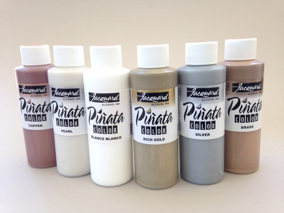 4oz. Jacquard Metallic Pinata Alcohol Ink available in a variety of colors alcohol based high vibrancy colors.