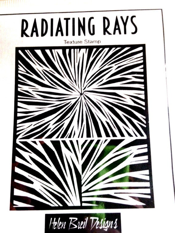 Radiating Rays fine art texture stamp by Helen Breil. Unmounted stamp great for polymer clay, resin clay, stamping and embossings