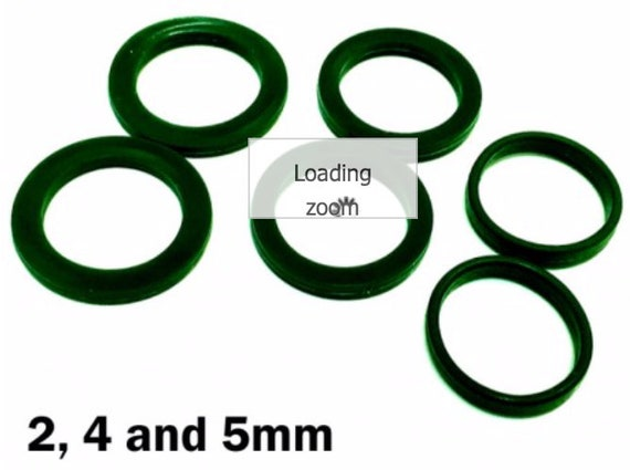 "Acrylic texture roller Guide Rings 2, 4, and 5mm The quick and easy way to ensure even rolled thicknesses when using 1"" diameter rollers"