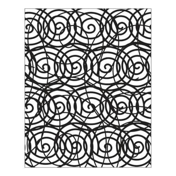 Son of a Swirl by Lisa Pavelka Unmounted stamp great for scrapbooking, polymer clay, epoxy clays and projects.