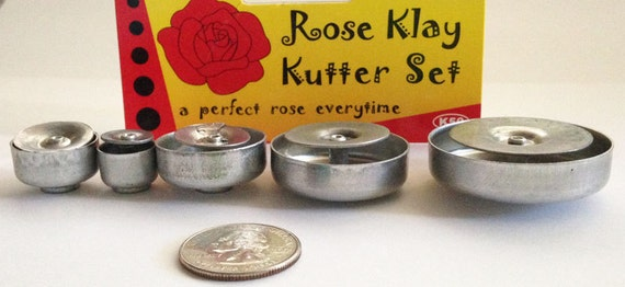 Plunge style Rose cutter by Kemper Klay Kutters  set of 5 Roses