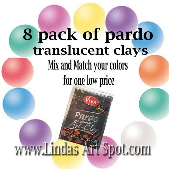 mix N match your own 8 pack Pardo Professional Translucent Art Clay by viva decor you choose your colors