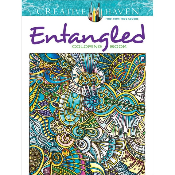 Entangled - creative haven Coloring Book Hypnotic patters to color