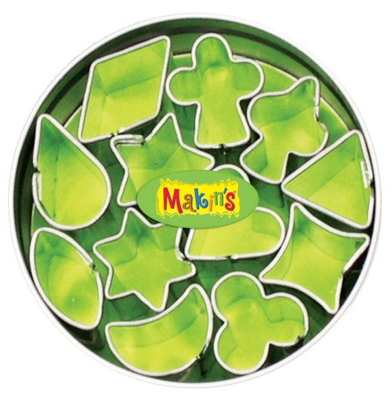 makins 12 piece mini geometric pattern cutters, perfect for polymer clay, fondant or other creative crafting