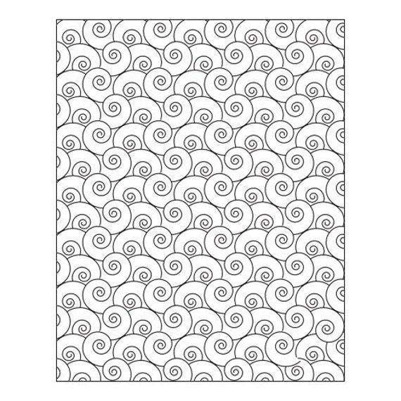 Swirly Q,  by Lisa Pavelka Unmounted stamp great for scrapbooking, polymer clay, epoxy clays and projects.