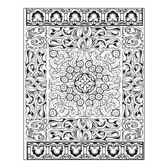Lisa Pavelka's, Persian Carpet texture stamp