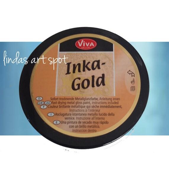Inka Gold -Aquamarine Non toxic  beeswax based Metal gloss paint by Viva Decor