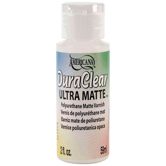 DuraClear Ultra Matte by Americana, 2oz varnish perfect for polymer clay and other crafts
