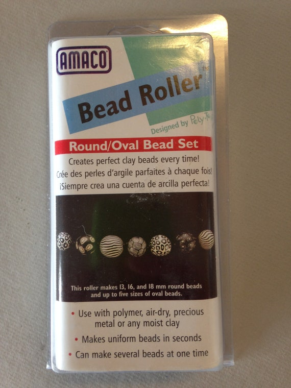 Amaco Round/Oval Bead Roller set Makes perfect 13, 16, and 18 mm round beads and up to 5 sizes of oval beads every time.