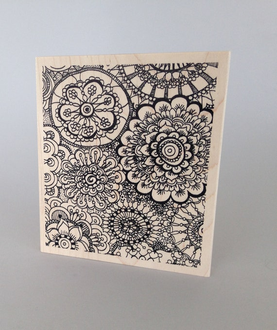 Coloring Mandala background stamp by Judikins this stamp is great for polymer clay and other crafts, offers a great look.