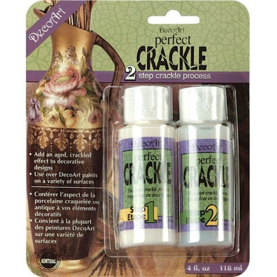 2 step Perfect Crackle medium is an easy to use and non toxic perfect antique finish for wood, ceramics and so much more