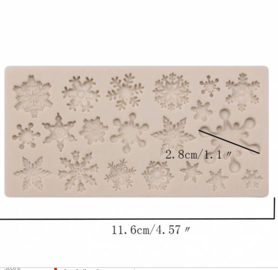 Snowflakes galore add a bit of snow & winter decorations with this food safe silicon push mold for polymer clay, cake decorating, and crafts