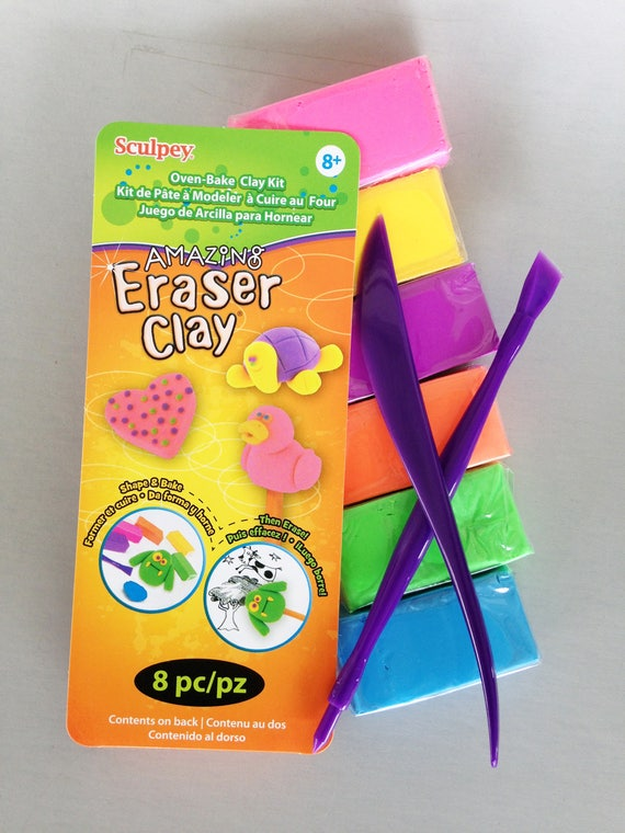 Sculpey Oven-Bake Amazing Eraser Clay Kit is a perfect stocking stuffer make fun animal clay figures crafts and more