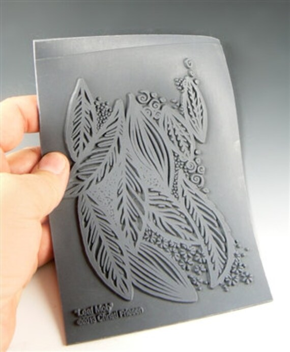 Leaf Mob an Unmounted stamp great for polymer clay and other crafts designed by Christi Friesen