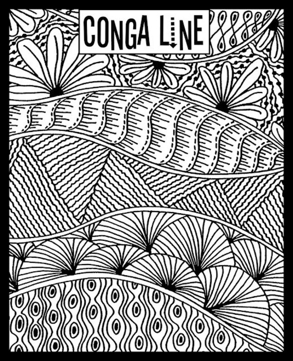 Conga Line fine art texture stamp by Helen Breil. Unmounted stamp great for polymer clay, resin clay, stamping and embossings