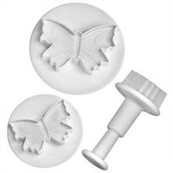 "3 piece  Butterfly Embossing cutters by lisa pavelka from 1 to  2 1/4"" diameter"