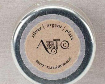 Silver Art-C Wax Paste Metallic 20ml  beeswax based Metal gloss, professional quality and highly pigmented wax paste