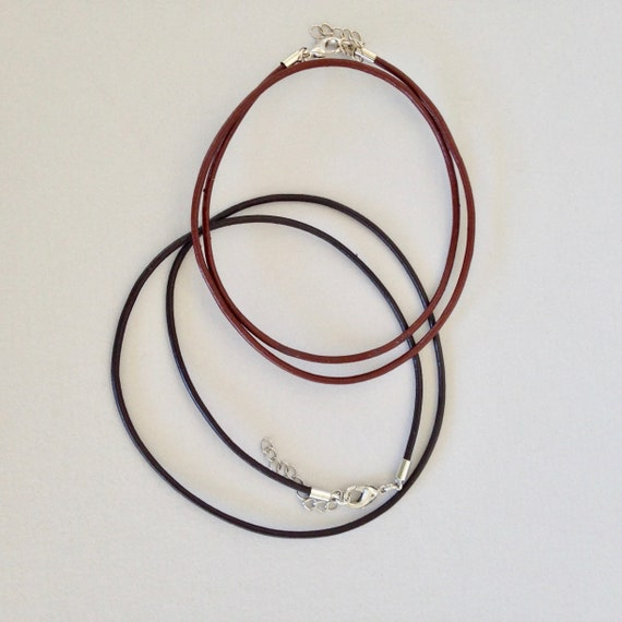 "18"" Leather cable necklace for creating your very own wearable art, just add your polymer clay or focal beads"