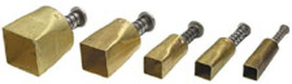 """Plunge style Square cutter by Kemper Klay Kutters  set of 5 square sizes 3/8"""" to 3/4"""""""