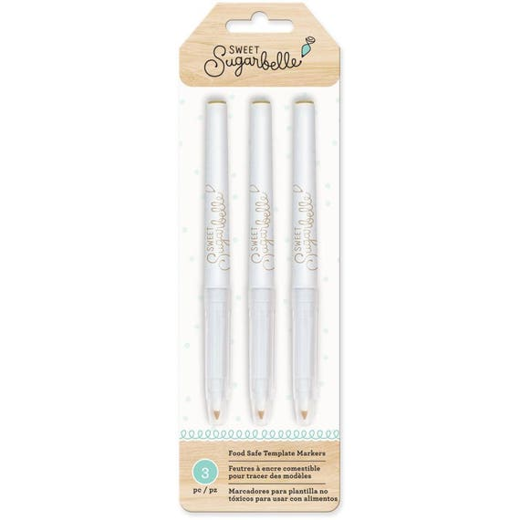 Sweet Sugarbelle Food Coloring Pens 3/Pkg, perfect for cookie traceing templates onto sugar cookies