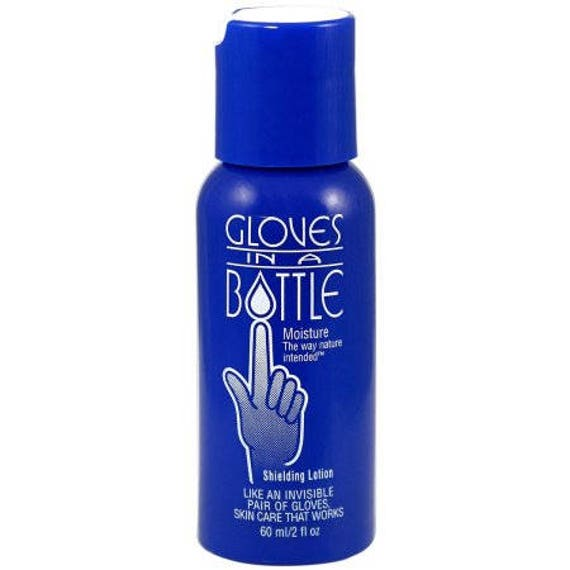 Gloves In A Bottle 2 oz skin shielding lotion & moisturizer, protects against products that strip moisture out of the skin like polymer clay