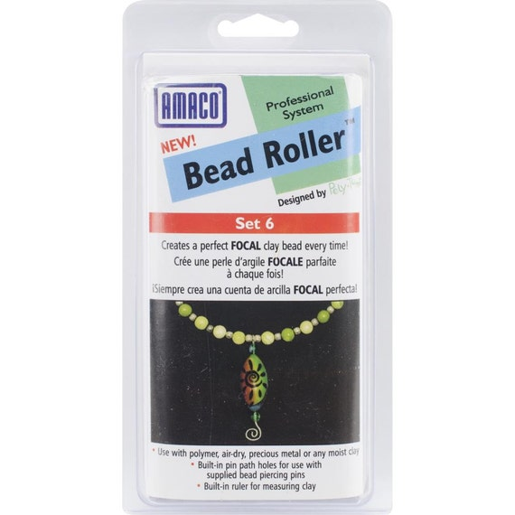 Amaco Bead Roller set 6 Makes a perfect oval focal bead every time.