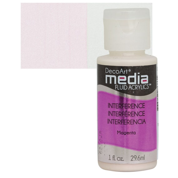 Interference acrylic paint, DecoArt Media fluid arcylic collection enjoy these 6 great special effect colors