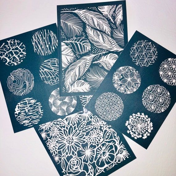 Get both sets of Sculpeys NEW silk screen sets Nature and Florals are perfect for jewelry and silkscreening on polymer clay
