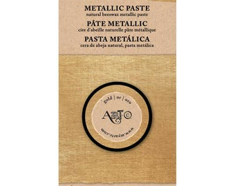 Art-C Wax Paste Gold  Metallic 20ml  beeswax based Metal gloss, professional quality and highly pigmented wax paste