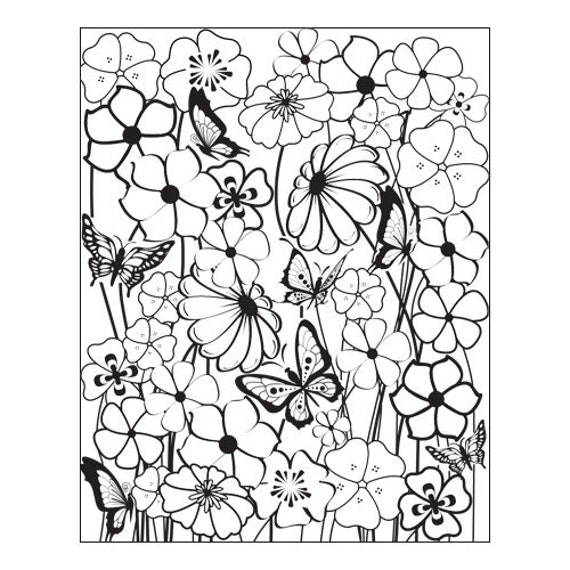 Bloomin by Lisa Pavelka Unmounted stamp great for polymer clay and other crafts