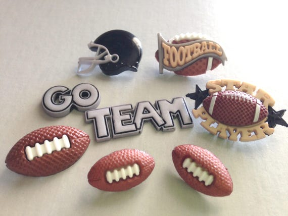 Football team buttons or scrapbooking, sewing and game day