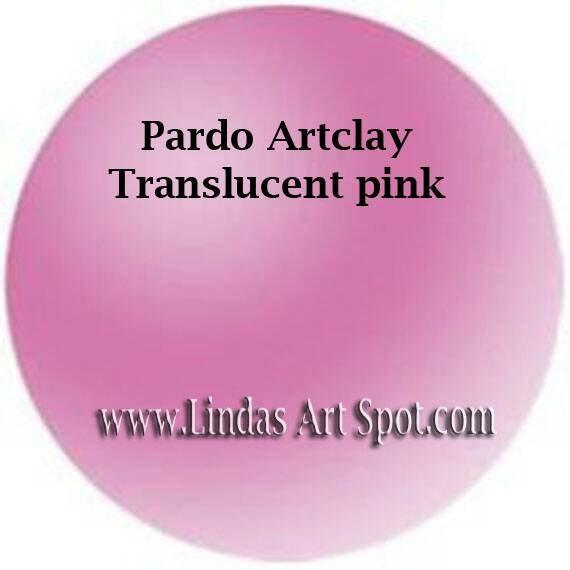 Pardo Translucent -Pink Professional Art Clay by Viva Decor - make beautiful faux beach glass and more
