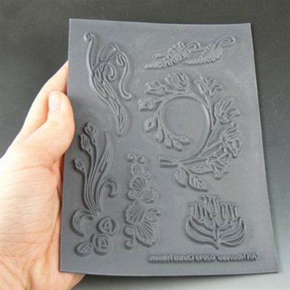 Art Nouveau an Unmounted stamp great for polymer clay and other crafts designed by Christi Friesen