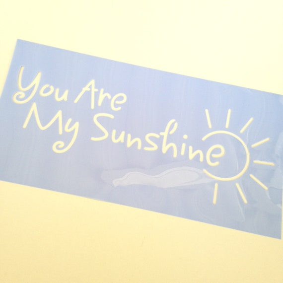 You are my sunshine Quote Stencil /  template design perfect for mixed media, scrapbooking, journaling and more