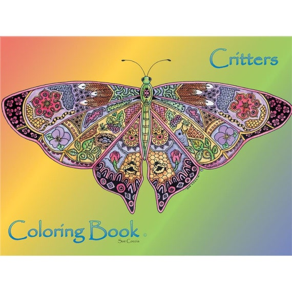 Animal Spirit coloring book by Sue Coccia Critters book suitable for watercolor