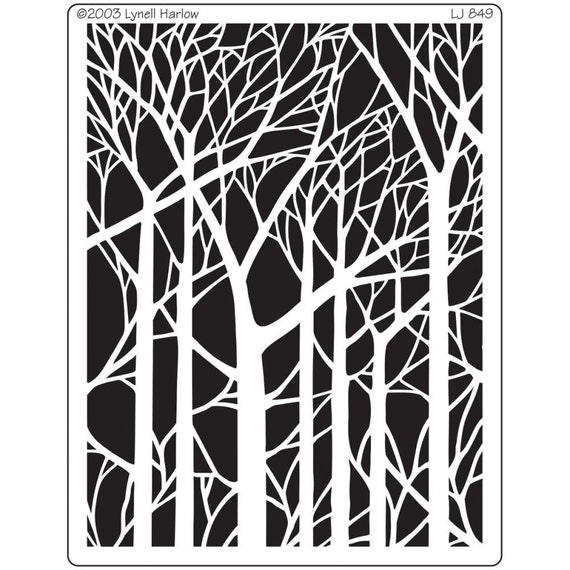 Bare trees stencil / template beautiful  forest of trees perfect for your  art projects
