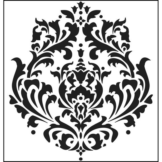 """Brocade 6 x 6"""" Stencil /  template a Jaime Echt design perfect for mixed media, scrapbooking, journaling and so much more"""