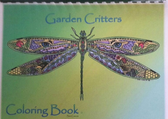 Animal Spirit coloring book by Sue Coccia Garden Critters book suitable for watercolor