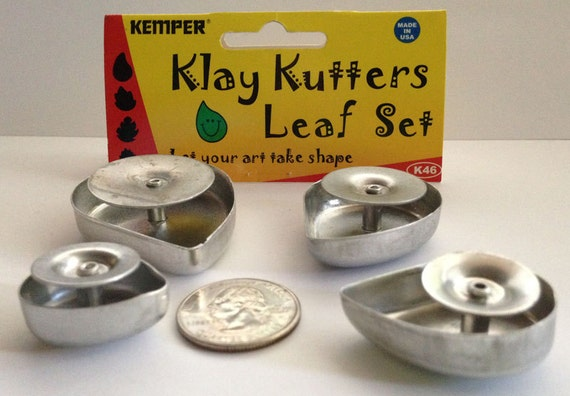 Plunge style Leaf cutter by Kemper Klay Kutters  set of 4 leafs