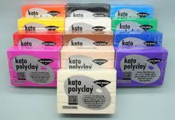 Kato polyclay polymer clay 2oz (56g) blocks superior strength, color fast and versatility