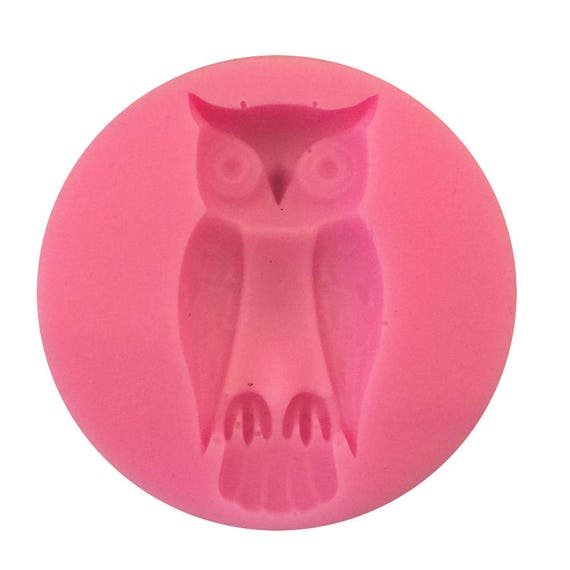 Wise Owl mold 3D food safe silicon push mold for fondant, cake decorating, and polymer clay