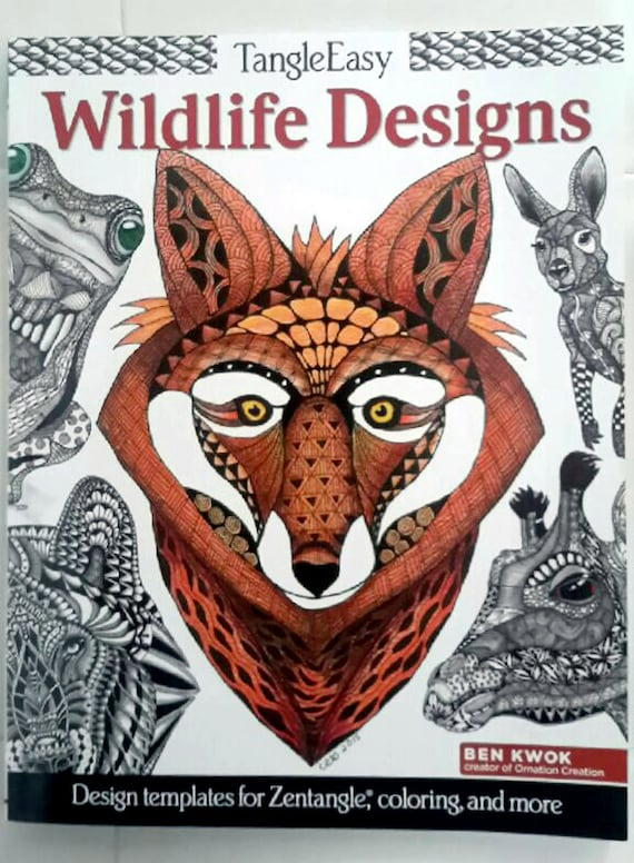 Tangle Easy wildlife designs, design templates for Zentangle, coloring and more by Ben Kwok